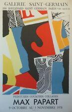 Max PAPART (1911-1994) Lithographie d'art en couleur 1974 Art Lithograph