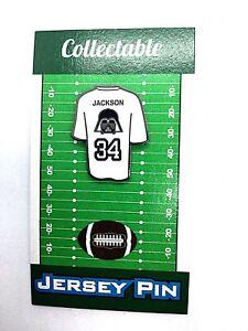 Oakland Raiders Bo Jackson jersey lapel pin-Black Hole Collectible-U know BO!