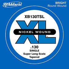 D'ADDARIO XB130TSL SINGLE LOW 'B' NICKEL BASS STRING - .130 GAUGE, TAPERED