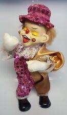 """Alte Spieluhr 27cm Puppe Figur Handaufzug """"Happy Birthday"""" beweglich"""