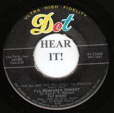 Pat Boone SOUNDTRACK 45 (Dot 15840) I'll Remember Tonight/The Mardi Gras VG++/M-