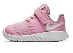 Nike  Infant Girls Sneakers Pink Rise/White~ Non Tie Infants  Girls Size 2