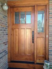 Craftsman Knotty Alder 3Lite Craftsman Entry Door Unit with Single Sidelite