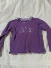 Girl's Size 7 Healthtex Purple Kitty Best Friends LS Top