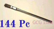 """144 of 3/8"""" Acid Brushes Metal Handle Horsehair Bristle Hobby Glue Oil 3/8"""""""