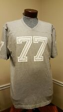 American Eagle Men's SIZE L- Vintage Fit - 77 Logo Graphic T-Shirt - GRAY