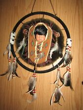 Native American Papoose Doll Round* Cradleboard!  Goldenvale Porcelain