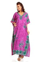 Boho Hippy Floral Cotton Kaftan Plus Size Women Shirt Beach Coverup Women Caftan