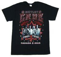 Motley Crue Canada Final Tour 2015 Shows Black T Shirt New Official Band Merch