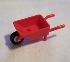 Lego City Red Minifig Garden Wheel Barrow Minifig Construction Tool Accessory