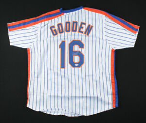 Autographed Dwight Doc Gooden New York Mets Signed Stripe Baseball Jersey PSACOA