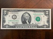 $2 UNCIRCULATED Error Second Printing Of District Seal Two Dollar Note GORGEOUS