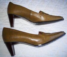 """Van Dal Vandalease Dunbar Tan Bruised Leather Shoes Size 5 with 2.25"""" Heels"""