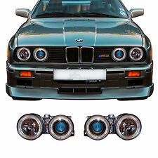 Scheinwerfer Set BMW 3er E30 87-94 Facelift klar/schwarz Angel Eyes H1+H1 9QW