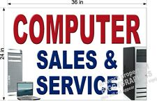 2' X 3'  PAPER BANNER  COMPUTER SALES AND SERVICE  NEW!!
