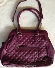 NEW Carlos By Carlos Santana Ladies Cosmetic Evening Handbag Bag Deep Berry