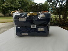 """LETTIA COLLECTION UNION HILL POLO LEG WRAPS 9' LONG 5""""WIDE NAVY BLUE 4 PACK NEW"""