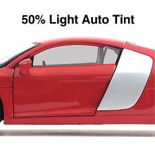 CAR WINDOW TINT FILM - LIGHT BLACK SMOKE 50% AUTO TINTING - 50cm Width Roll