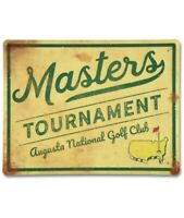 Limited 2020 Masters Augusta National Metal Tin Wall Sign Vintage Dustin Johnson