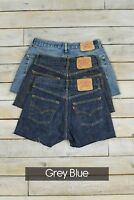 DISTRESSED LEVIS VINTAGE WOMENS HIGH WAISTED DENIM SHORTS SIZE 6 8 10 12 14 16 1