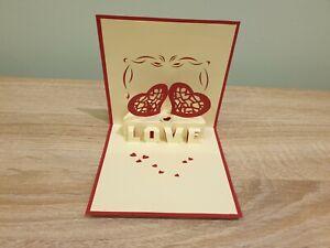 3d Popup Love Hear Card