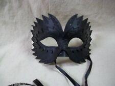 Gothic Black Raven Eye Mask Feather Crow Beak Wicked Blackbird Masquerade Unisex