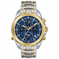 Bulova 98B276 Men's Blue Dial Chronograph - Authorized Dealer