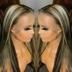 Luxury Lace Front Remy Ombre Honey Blonde Full Lace Human Hair Wig #27 Balayage