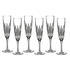 Waterford Lismore Diamond Champagne Flute SET/6 #40003655 New Large Box