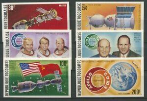 Togo 1975 Amerikanisch-sowjetische Raumfahrt 1110/15 B postfrisch