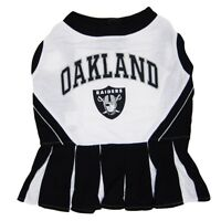 Oakland Raiders NFL Licensed Pets First Cheerleader Dog Dress Sizes XS-M