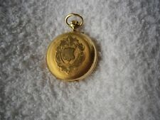 Une fin 19TH siècle 14 Ct or Rose remontoir cylindre 10 rubis-LADY 'S Stem