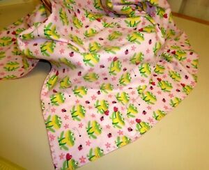 Frog Flannel Blanket Approx 32 X 38