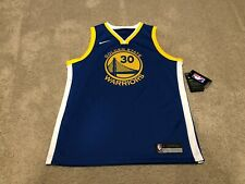 New NWT Youth Nike NBA Steph Curry Golden State Warriors Jersey Large 14/16