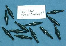 """1-Dozen 100gr. 11/32"""" Screw-in Combo Points for Aluminum Arrows-Recurve/Compound"""