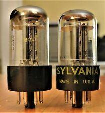1% Matching balanced pair SYLVANIA 6SN7GTB Chrome Top Black Plate