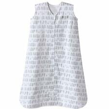 New ListingHalo Sleepsack Cotton Wearable Blanket, Squares and Triangles, Grey, Medium