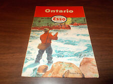 1955 Esso Ontario Vintage Road Map /Nipigon River on Cover