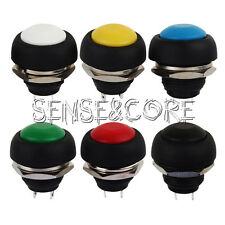 6PCS Mini Switch 12mm Waterproof Momentary Push Button OFF/ON Schalter 250V 10A