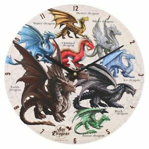 ANNE STOKES AGE OF DRAGONS WALL CLOCK 34CM