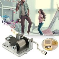 Mini Hand Cranking Music Movement DIY Music Box Collectibles Many Song Available
