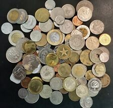 Lot of 100 Random Mixed World/Foreign Coins - Asia, Africa, Europe, The Americas