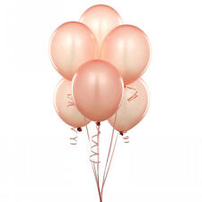 "24 Latex Balloons 12"" When Inflated Solid Colors - Peach"