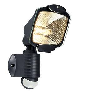 Adjustable Home Security Outside Light PIR Sensor with Manual Overide BLACK