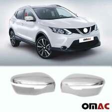Fits Nissan Qashqai 2017-2020 Chrome Side Mirror Cover Cap 2 Pcs
