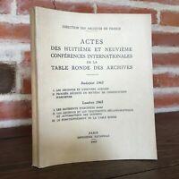 Atti Delle Conferenze Internazionali Tavolo Rotondo Archivio 1963 1965