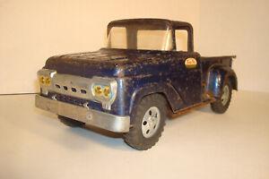 TONKA BLUE 1958 FORD FARM STEPSIDE PICKUP TRUCK, NEW TAILGATE DISPLAY PARTS #02