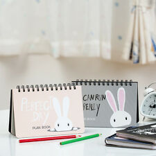 """""""Sweet Bunny"""" 1pc Weekly Planner Cute Notebook Coil Diary Planning Lined Papers"""
