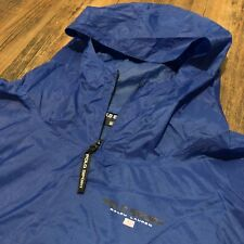 POLO SPORT Ralph Lauren Men's Blue Hooded Wind + Rain Jacket Flag Nylon XXL