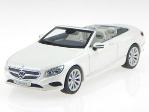 Mercedes A217 S-Class convertible white modelcar iScale 1:43